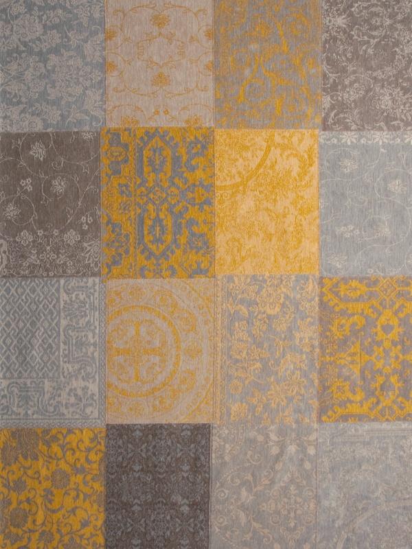 Louis de Poortere Vintage Kelim Tapijt 8084 Yellow Bruin, Geel, T