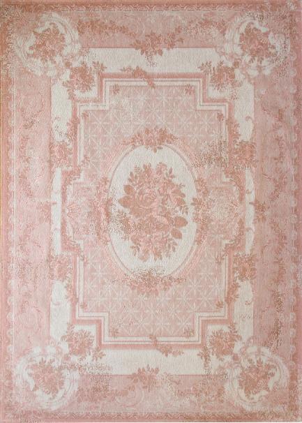 Louis de Poortere Cameo Savonnerie 8242 Pompadour Grijs, Roze