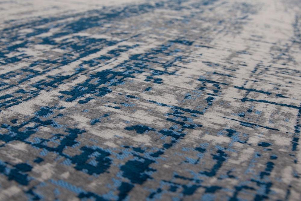 Vloerkleed Blauw Grijs : Louis de poortere mad men griff bronx azurit blauw grijs ivory