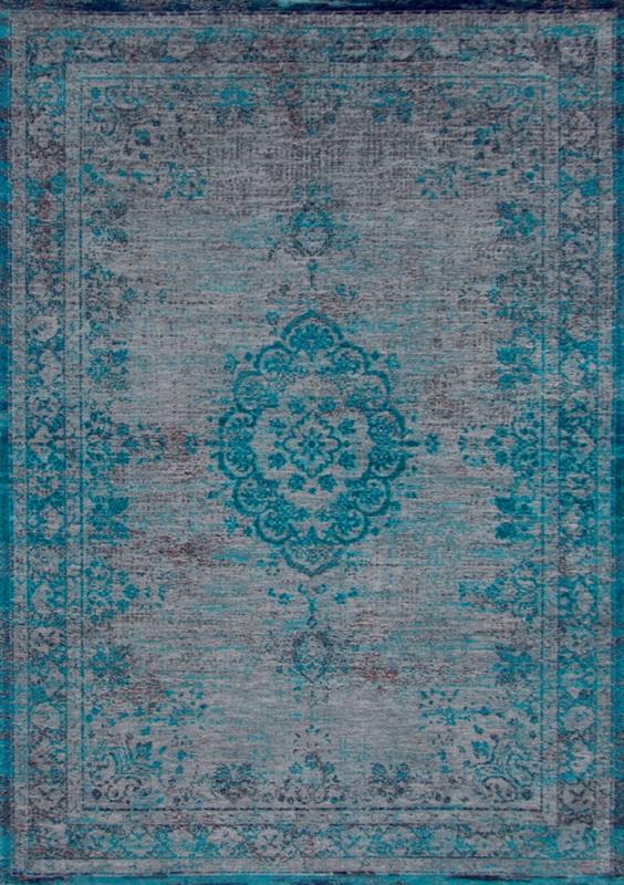 Louis De Poortere Fading World 8255 Grey Turquoise Blauw