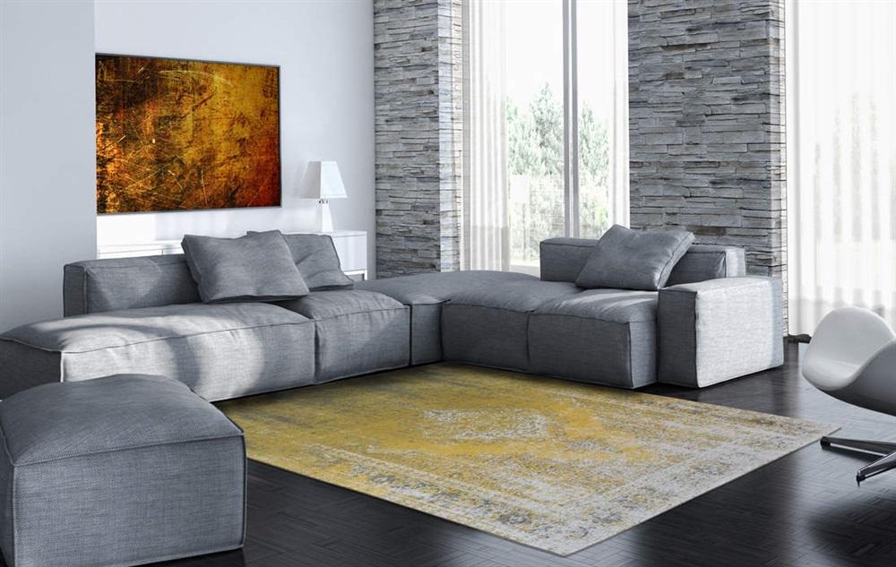 louis de poortere fading world generation 8638 yuzu cream geel grijs ivory. Black Bedroom Furniture Sets. Home Design Ideas