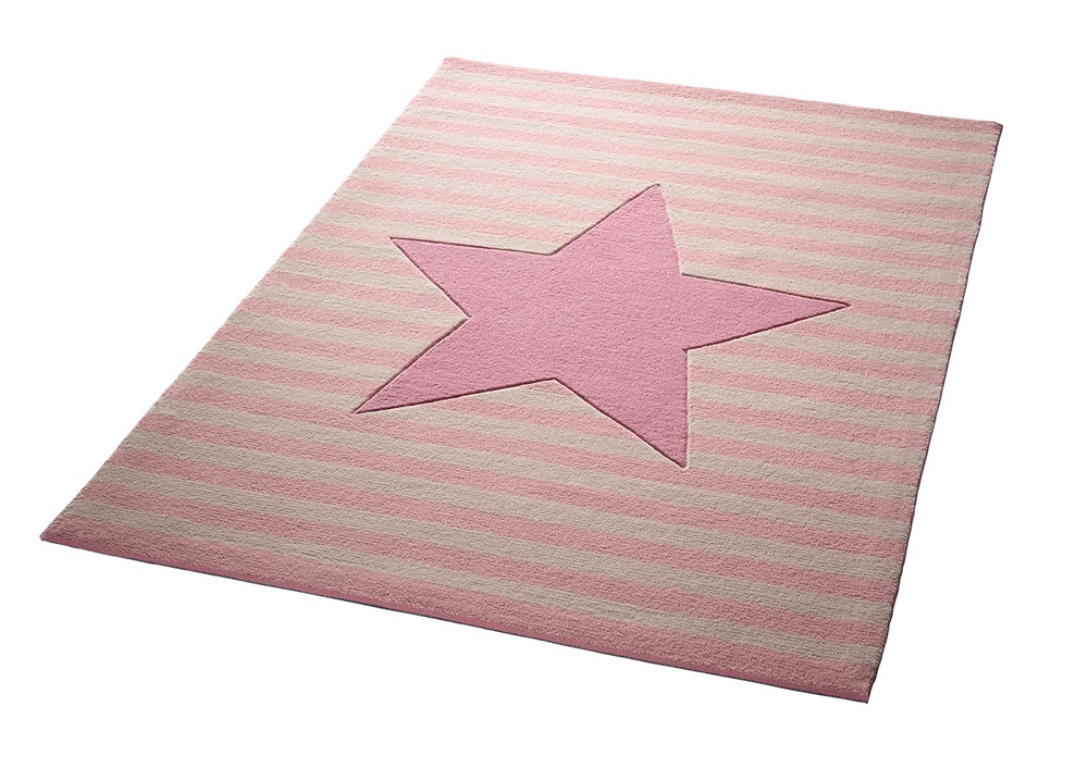 Vloerkleed Kinderkamer Roze : Bellybutton my little star bb creme roze