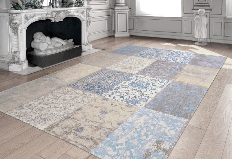 louis de poortere cameo multi 8237 gustavian blue beige. Black Bedroom Furniture Sets. Home Design Ideas