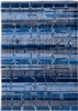 Louis de Poortere Mad Men 8426 Rockefeller Blue[Gaat uit de collectie] Blauw, Creme