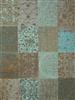 Louis de Poortere Vintage Kelim Tapijt 8006 Sea Blue Blauw, Grijs, Groen, Multicolor, Taupe