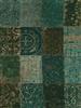 Louis de Poortere Vintage Kelim Tapijt 8022 Dark Green ## de laatste Groen