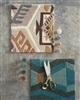 Brink & Campman Yara Artdeco 33508 Aqua, Camel, Creme, Grijs