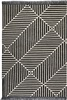 Carpets & Co Irregular Fields Go-0008-01 Creme, Zwart