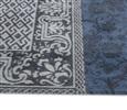 Louis de Poortere Vintage Kelim Tapijt 8108 Blue Denim Blauw, Grijs, Multicolor, Taupe