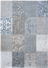 Louis de Poortere Vintage Kelim Tapijt 8981 Bruges Blue Blauw, Grijs, Ivory, Multicolor