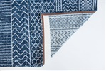 Louis de Poortere Khayma Agadir 8676 Scarab Blue Blauw