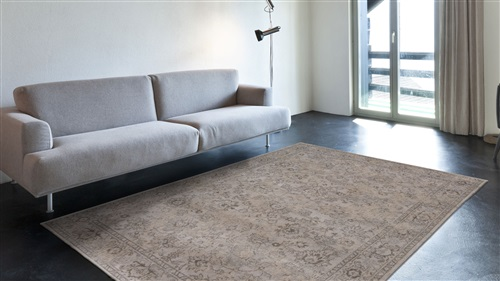 Louis de Poortere Fading World Agra Sur 8948 Antique White[Gaat uit de collectie] Creme, Ivory, Taupe