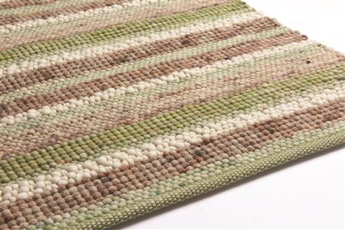 Brinker Carpets Greenland Stripes 1044 Bruin, Grijs, Groen, Ivory