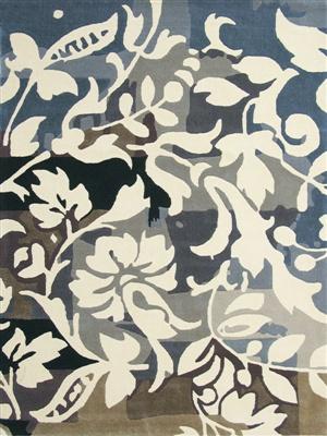 Brink & Campman xian orchid 73904 ##Laatste## Blauw, Creme, Grijs, Taupe, Zwart