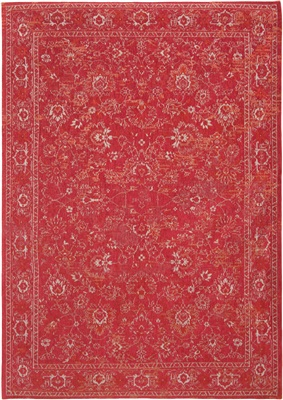 Louis de Poortere BOBO FLOWERS Roskilde Red 8910 [ Laatste] Rood