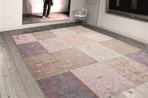 Louis de Poortere Cameo Multi 8238 Bolshoi Pink [Laatste] Beige, Grijs, Roze