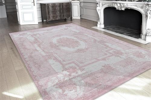 Louis de Poortere Cameo Savonnerie 8242 Pompadour [Laatste] Grijs, Roze