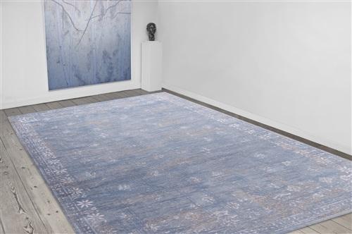 Louis de Poortere Cameo Fedra 8245 Dutch Blue [[ gaat uit collectie ]] ## Blauw, Grijs