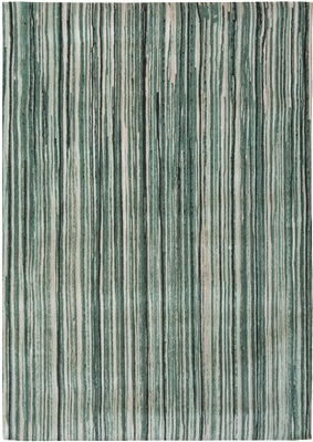 Louis de Poortere Atlentic 8592 Green Stripes Creme, Groen, Zwart, Antraciet