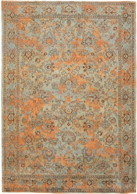 Fading World Agra Sur 8943 Light Blue Orange[Gaat uit de collectie]
