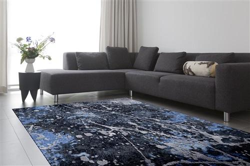 De Munk Carpets Nepal Patz. ABEER D213, (120 knots) Blauw