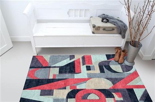 De Munk Carpets Nepal ABHINAV 308, (60 knots) Antraciet, Grijs, Rood
