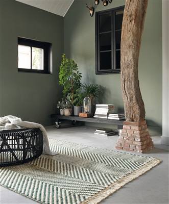 Brink & Campman Atelier Twill 49207 Grijs, Groen, Ivory