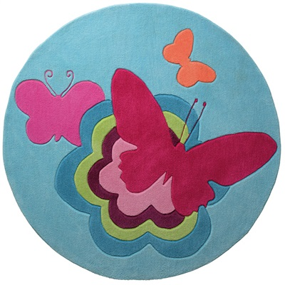 Esprit Butterflies ESP-3811-01 Blauw, Multicolor