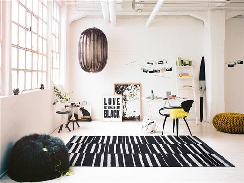 Carpets & Co Skid Marks Go-0009-01 Creme, Zwart