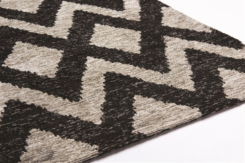 Brinker Carpets Geometrics rombu beige-black Beige, Zwart