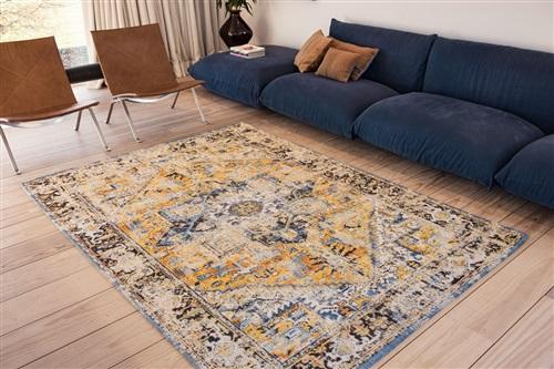 Louis de Poortere Antiquarian Heriz 8704 Amir Gold Blauw, Geel, Multicolor, Oranje