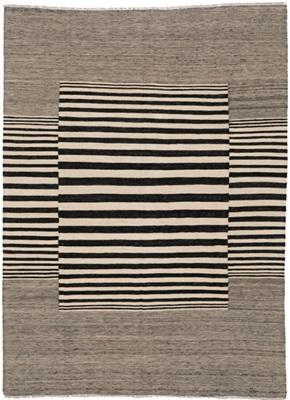 De Munk Carpets Kelim ** MMUCL-CC-309-182x235 Grijs, Wit, Zwart