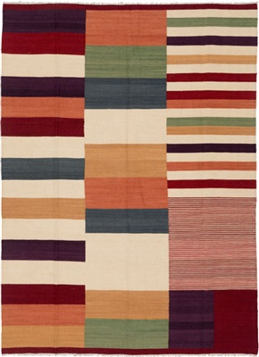 De Munk Carpets Kelim ** MMUCL-CC-320-176x247 Multicolor
