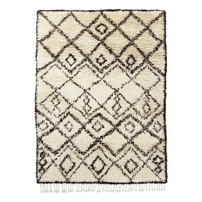 De Munk Carpets Beni Ouarain MM-01 Ivory, Zwart