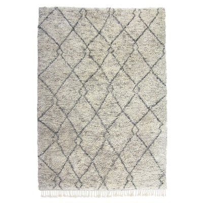 De Munk Carpets Beni Ouarain MM-02 speciaal Antraciet, Ivory, Taupe