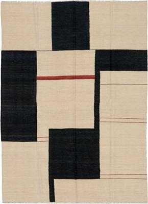 De Munk Carpets Kelim MMUCE-CC-38-08-179X222 Ivory, Zwart