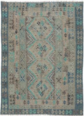 De Munk Carpets Kelim ** KMUCL-CC-005-173x239 Blauw, Groen, Multicolor