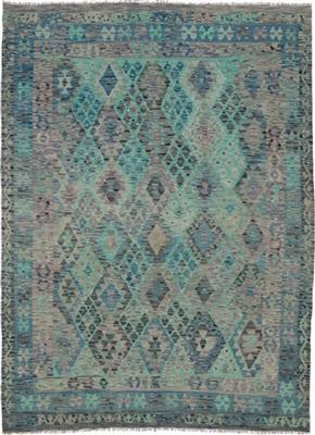 De Munk Carpets Kelim KMUCL-CC-249-192x232 Blauw, Groen