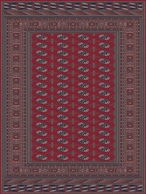 Lano Nain 6211-677 Bruin, Rood