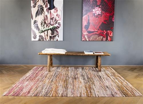 Louis de Poortere Sari 8876 More sandalwood Bruin, Multicolor, Roze, Terra