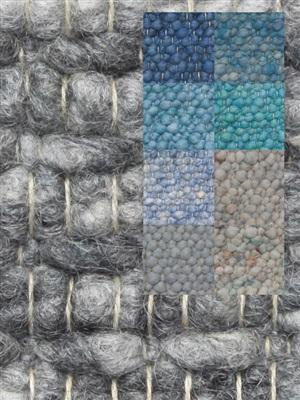 Brinker Carpets Step 8 blauw-zeegroen Blauw, Groen