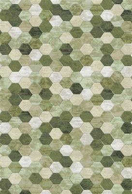 Onze Huis Collectie Gable 17555 Grijs, Groen, Multicolor, Terra