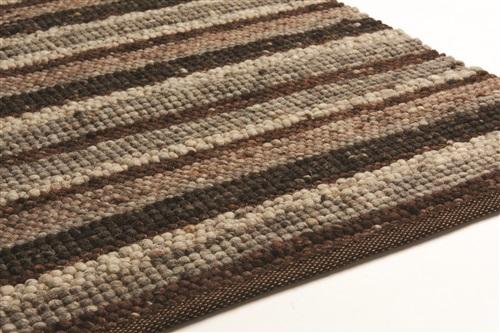 Brinker Carpets Greenland Stripes 1042 Bruin, Grijs, Ivory