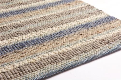 Brinker Carpets Greenland Stripes 1045 Blauw, Bruin, Grijs, Ivory