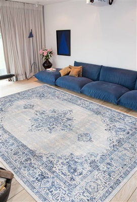 Khayma Fairfield 8670 Blue Border