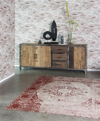 Brinker Carpets Meda Wine red Rood