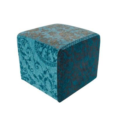 Vintage Kelim Tapijt 8105 Turquoise Pouf